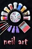Foil for nail design,  decoration Stock Images