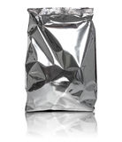 Foil package bag. Isolated on white background Royalty Free Stock Photo