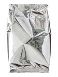 Foil package bag isolated on white. With clipping path Royalty Free Stock Images