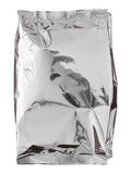 Foil package bag isolated on white Stock Photos