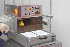 Foil Packaging Machine royalty free stock images