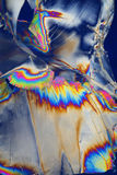 Foil in polarized light Stock Photo