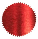 Foil red diploma or certificate seal isolated stock photography