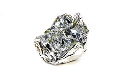 foil silver Arkivfoton