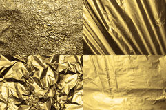 Foil textures Stock Photography