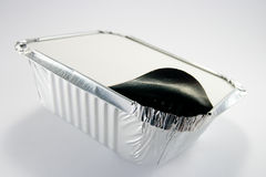 Foil Tray with Open Lid Stock Photography