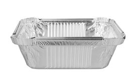 Foil trays for food Royalty Free Stock Photos