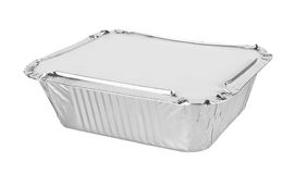 Foil trays for food Royalty Free Stock Photography