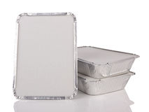 Foil trays Stock Photography