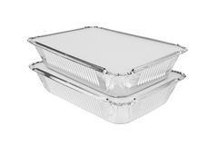 Foil trays Royalty Free Stock Photography