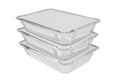 Foil trays Stock Images