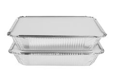 Foil trays Royalty Free Stock Images