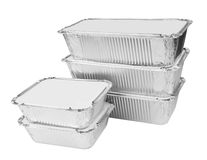 Foil trays for food Royalty Free Stock Photo