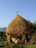 Foin de paille au Népal Images libres de droits
