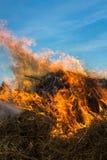 Foin du feu Photographie stock libre de droits