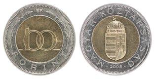 Foint Münze des Ungarn 100 Lizenzfreies Stockfoto