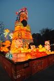 Foire chinoise de temple de la nouvelle année 2014 et festival de lanterne Image libre de droits
