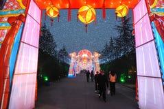 Foire chinoise de temple de la nouvelle année 2014 et festival de lanterne Photo libre de droits