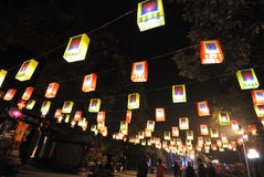 Foire chinoise de temple de la nouvelle année 2014 et festival de lanterne Photographie stock libre de droits