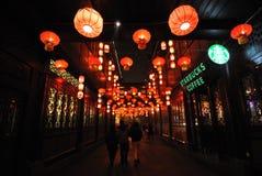 Foire chinoise de temple de la nouvelle année 2014 et festival de lanterne Photos libres de droits