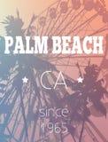 Foire d'amusement et copie de palmiers Photos stock