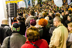 Foire de livre de Gaudeamus, Bucarest, Roumanie 2014 Photo libre de droits