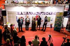 Foire de livre de Gaudeamus, Bucarest, Roumanie 2014 Photographie stock libre de droits