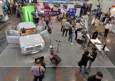 Foire internationale de TV et de radio à Kiev, Ukraine Photos libres de droits