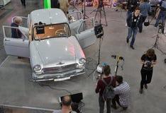 Foire internationale de TV et de radio à Kiev, Ukraine Image libre de droits