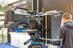 Foire internationale de TV et de radio à Kiev, Ukraine Image stock