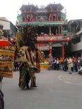 Foire traditionnelle de temple autour de l'événement - le dieu de Taïwan (Sheng Jian) photographie stock libre de droits