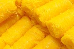 Foithong, sucreries thaïlandaises faites de jaune d'oeuf Photo stock