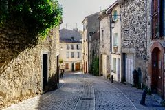 Foix,Prefecture and communeView of Chateau de Foix in Lazema area. Foix is a commune, the former capital of the County of Foix, royalty free stock images