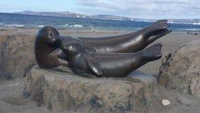 Foki statua Obrazy Royalty Free