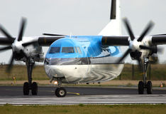 Fokker 50 Royalty Free Stock Images