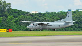 Fokker 50 taking off Stock Photography