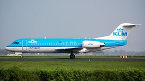 Fokker 70 de KLM Cityhopper Photos stock