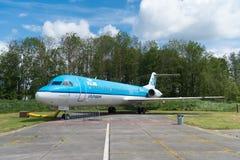 Fokker 100 de KLM Imagen de archivo libre de regalías