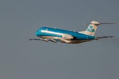 Fokker 70 del KLm Cityhopper Fotografia Stock Libera da Diritti