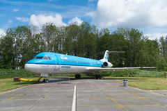 Fokker 100 di KLM Immagine Stock Libera da Diritti