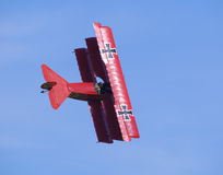 Fokker Dr.1 Dreidecker. During airshow in Prague Royalty Free Stock Photography