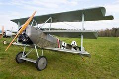 Fokker Dr Eu triplane de Dreidecker estou no aeroporto Fotos de Stock