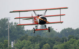 Fokker DR.I - en el aniversario de Comina 100 del La Imagen de archivo libre de regalías