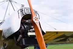 Fokker e III истребительная авиация Eindecker Первой Мировой Войны стойки на авиапорте стоковые фотографии rf