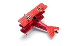 Fokker Fighter Aircraft Collection modelo fundido Drl Fotografia de Stock