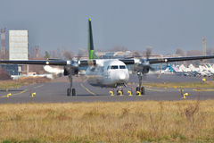 Fokker 50 regional plane Stock Images