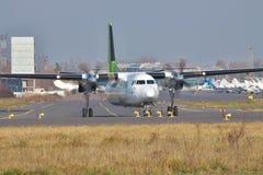 Fokker 50 regionalności samolot Obrazy Stock