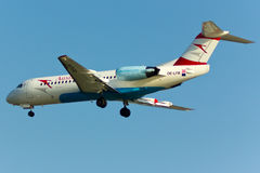 Fokker 70 samolot fotografia royalty free