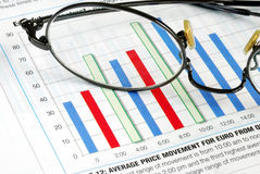 Fokus auf dem Devisenkurs Stockfotografie