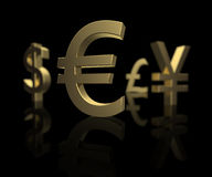 Fokus auf dem Euro stockfoto